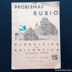 Libros de segunda mano: PROBLEMAS RUBIO. EJERCICIOS DE ARITMÉTICA (SEGUNDA PARTE). Nº 15. AÑO 1959.. Lote 139028402