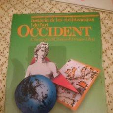 Libros de segunda mano: HISTORIA DE LES CIVILITZACIONS I DE L´ART OCCIDENT - 1 B.U.P. -EN CATALAN --REFM3E3. Lote 139614730