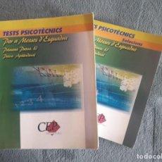 Libros de segunda mano: TESTS PSICOTÈCNICS PER A MOSSOS D'ESQUADRA, 1ª PROVA , PROVA APTITUDINAL / LLIBRE DE TESTS I LLIBRE. Lote 140834654
