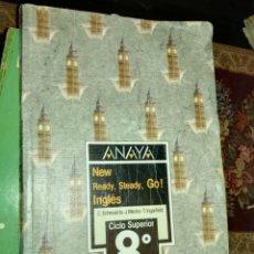 Libros de segunda mano: ANTIGUO LIBRO DE INGLES 8 EGB E.G.B. ANAYA LIBRO DE TEXTO. Lote 161135260