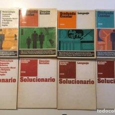 Libros de segunda mano: LOTE 4 LIBROS GRADUADO ESCOLAR CEAC CON SOLUCIONARIO - MUY BUEN ESTADO, SIN ANOTACIONES. Lote 142406382