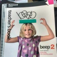 Libros de segunda mano: TEACHER'S BOOK. BEEP. 2. SUSAN BOLLAND. EDICION CASTELLANO. Lote 143027930