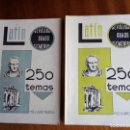 Libros de segunda mano: LATÍN 250 TEMAS. REVÁLIDA GRADO ELEMENTAL. M. DE ALDAPE MAURTUA. 1.959 TOMO I Y II.. Lote 143144638