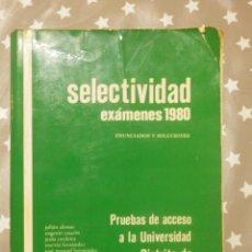 Libros de segunda mano: LIBRO PREPARACIÓN EXAMENES - SELECTIVIDAD - 1980 - EDINUMEN. Lote 143349442