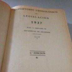 Libros de segunda mano: REPERTORIO CRONOLÓGICO DE LEGISLACIÓN. 1937. Lote 143543941