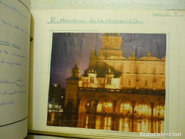 Libros de segunda mano: CUADERNO MANUSCRITO ESCOLAR *INTERPRETACIÓN POLÍTICA DE LA HISTORIA DE ESPAÑA* - 1964 - Foto 2 - 143936306