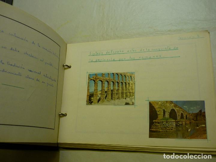 Libros de segunda mano: CUADERNO MANUSCRITO ESCOLAR *INTERPRETACIÓN POLÍTICA DE LA HISTORIA DE ESPAÑA* - 1964 - Foto 5 - 143936306