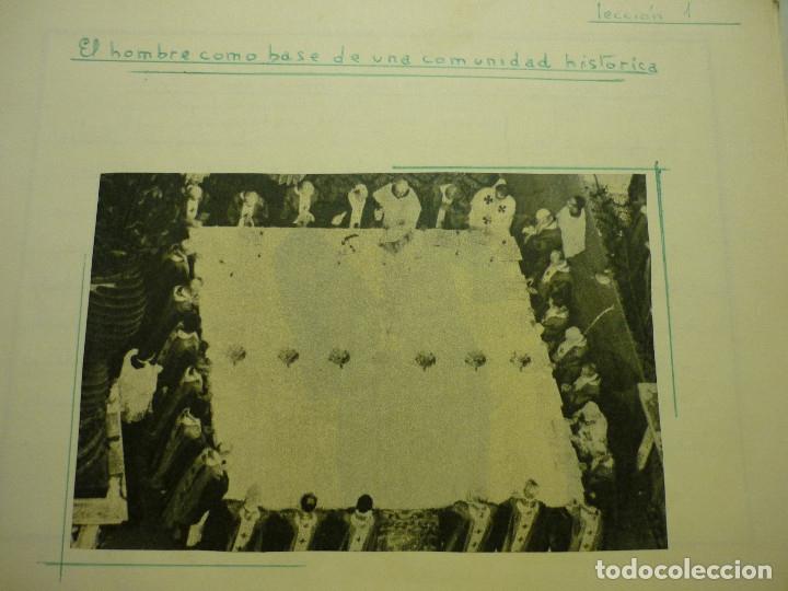 Libros de segunda mano: CUADERNO MANUSCRITO ESCOLAR *INTERPRETACIÓN POLÍTICA DE LA HISTORIA DE ESPAÑA* - 1964 - Foto 12 - 143936306