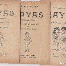 Libros de segunda mano: TRES CUADERNILLOS DE RAYAS.EDITORIAL SANCHEZ RODRIGO.PLASENCIA ( CÁCERES ).. Lote 144254282