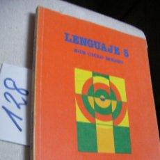 Libros de segunda mano: ANTIGUO LIBRO DE TEXTO - LENGUAJE 5 EGB - SANTILLANA. Lote 144443498