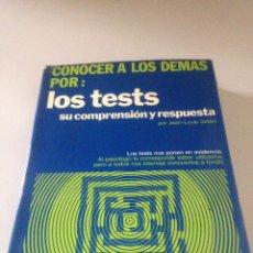 Libros de segunda mano: LOS TESTS SU COMPRENSIÓN Y RESPUESTA. Lote 144909085