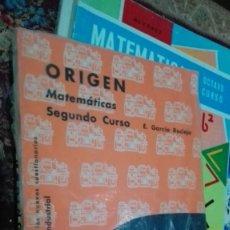 Libros de segunda mano: ORIGEN MATEMATICAS. Lote 144997002