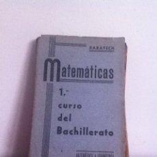 Libros de segunda mano: MATEMÁTICAS 1 CURSO BALLICHER 1940. Lote 145979320