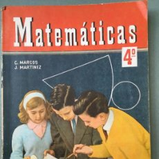 Libros de segunda mano: MATEMATICAS CUARTO CURSO, DE C. MARCOS Y J. MARTÍNEZ EDICIONES S.M.. Lote 146111254
