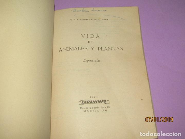 Libros de segunda mano: Antiguo Libro de Escuela VIDA DE ANIMALES Y PLANTAS Editorial PARANINFO - Año 1963 - Foto 5 - 146169310