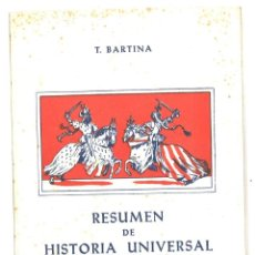 Libros de segunda mano: RESUMEN DE HISTORIA UNIVERSAL Y DE LA CIVILIZACIÓN. 1963. Lote 146310402