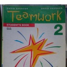 Libros de segunda mano: TEAMWORK STUDENT S BOOK 2 -E.S.O. 1996 EDICIO CATALANA. Lote 146539786