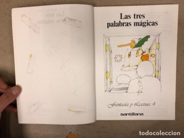 Libros de segunda mano: LAS TRES PALABRAS MÁGICAS. FANTASÍA Y LECTURA 4º EGB. SANTILLANA EDITORES 1983. - Foto 2 - 146558622
