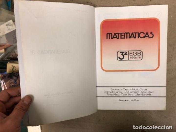 Libros de segunda mano: MATEMÁTICAS 3º, 4º y 5º DE EGB. EDICIONES ANAYA 1987. - Foto 3 - 146559730