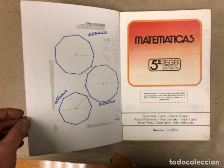 Libros de segunda mano: MATEMÁTICAS 3º, 4º y 5º DE EGB. EDICIONES ANAYA 1987. - Foto 23 - 146559730