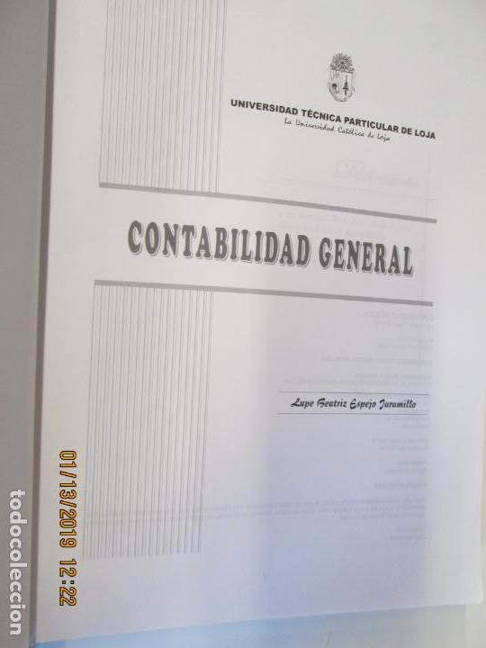 Libros de segunda mano: CONTABILIDAD GENERAL UNIVERSIDAD TECNICA DE LOJA - LUPE BEATRIZ ESPEJO JARAMILLO - Foto 3 - 147777466
