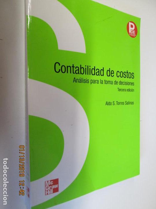 CONTABILIDAD DE COSTOS ANALISIS PARA LA TOMA DE DECISIONES MCGRAW HILL (Libros de Segunda Mano - Libros de Texto )