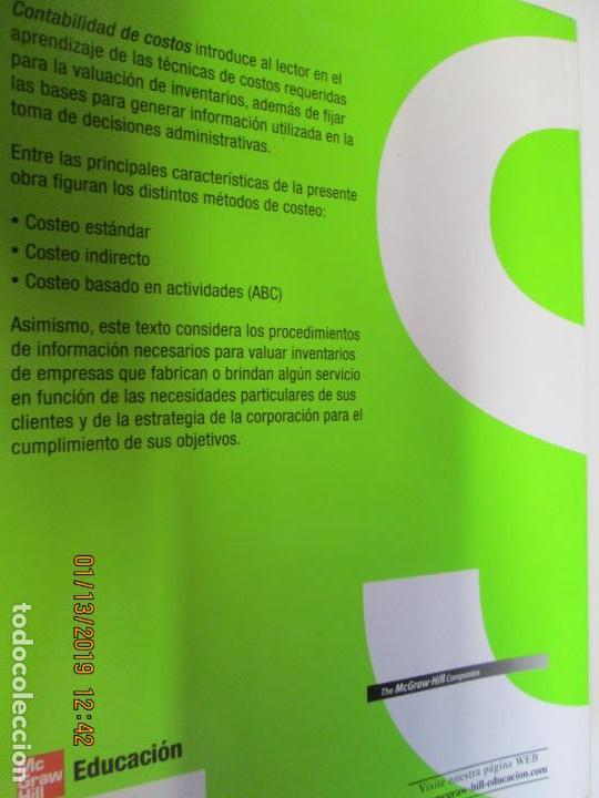 Libros de segunda mano: CONTABILIDAD DE COSTOS ANALISIS PARA LA TOMA DE DECISIONES MCGRAW HILL - Foto 6 - 147777966