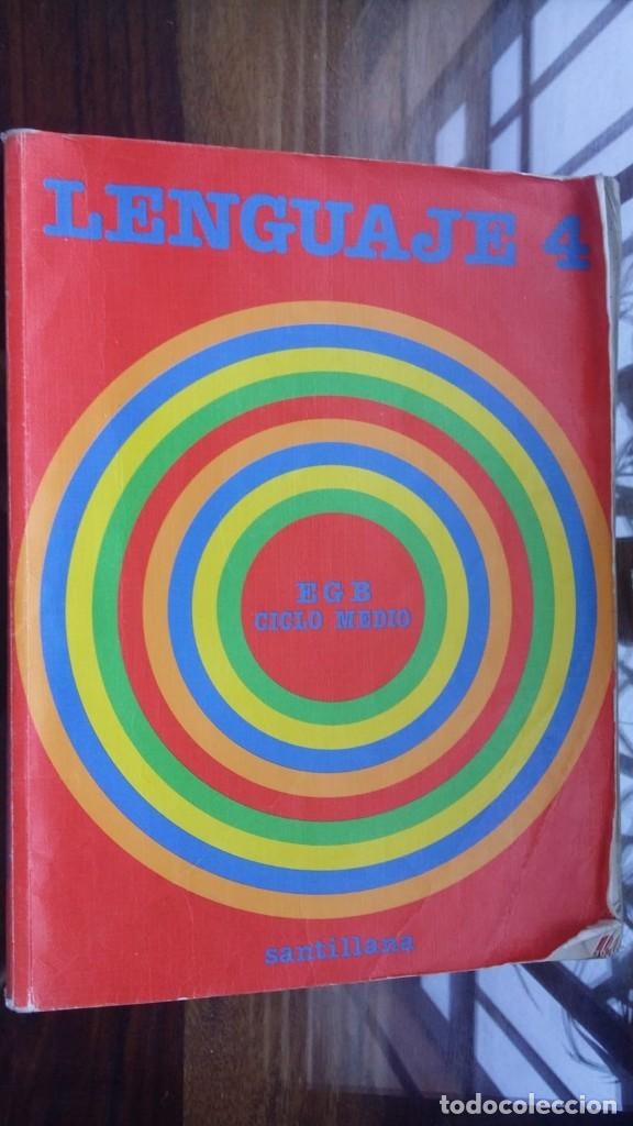 LENGUAJE 4 SANTILLANA 1986 EGB CICLO MEDIO (Libros de Segunda Mano - Libros de Texto )