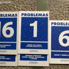 Libros de segunda mano: LOTE DE 5 CUADERNILLOS PROBLEMAS. ED. ANAYA. Lote 147846190