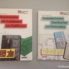 Libros de segunda mano: LOTE DE REPARACION DE LESIONES DE EDIFICIOS & INSTALACIONES SANITARIAS EN VIVIENDAS. Lote 148170562