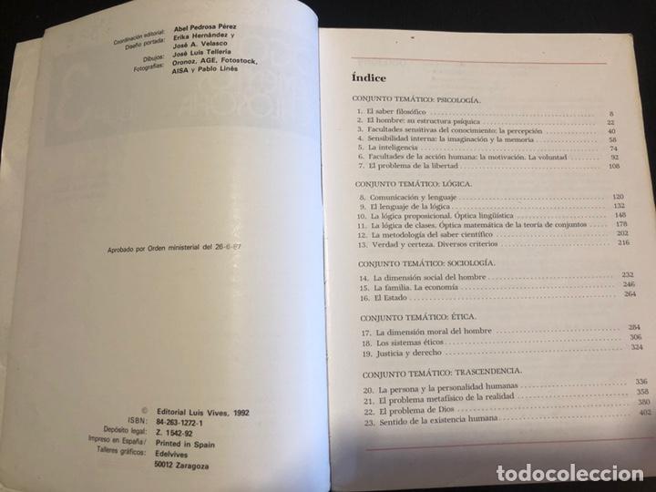 Libros de segunda mano: Logos. Libro de filosofía de tercero de BUP - Foto 2 - 148225058