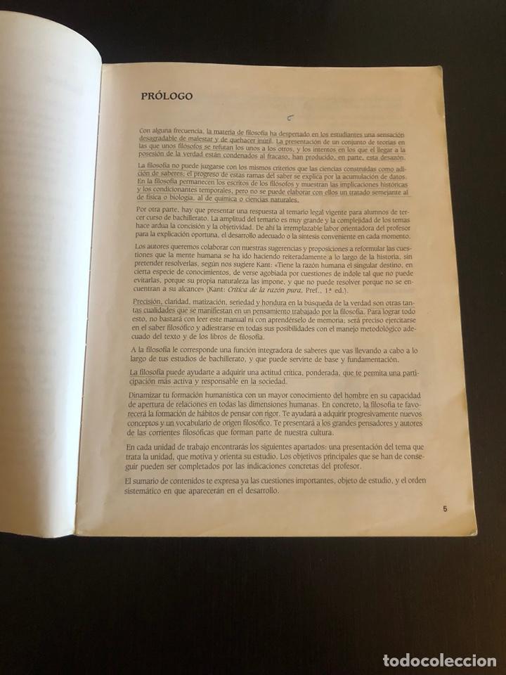 Libros de segunda mano: Logos. Libro de filosofía de tercero de BUP - Foto 3 - 148225058