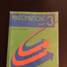 Libros de segunda mano: MATEMÁTICAS TERCERO DE BUP EDELVIVES. Lote 148228698