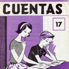 Libros de segunda mano: CUADERNILLO CUENTAS .17 NIÑOS DE 8 A 9 AÑOS (NIVEL EGB). ED. EDELVIVES. Lote 148547366