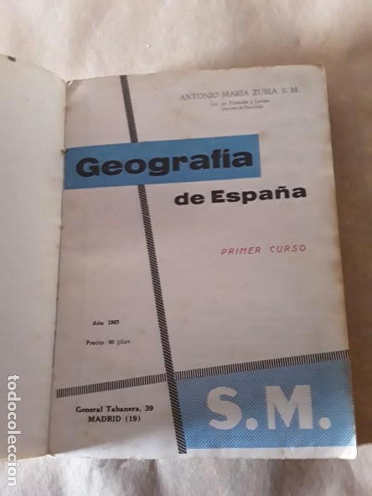 Libros de segunda mano: Geografia de España,Antonio María zubia,primer curso - Foto 2 - 151873486