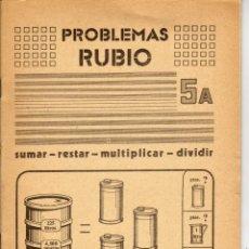 Libros de segunda mano: CUADERNILLO PROBLEMAS RUBIO Nº 5 A . AÑO 1977. Lote 178682246