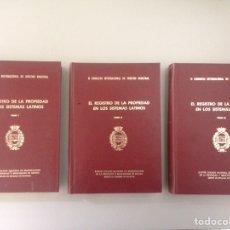 Libros de segunda mano: EL REGISTRO DE LA PROPIEDAD EN LOS SISTEMAS LATINOS TOMOS I, II Y III. Lote 152051909