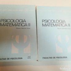 Libros de segunda mano: PSICOLOGÍA MATEMÁTICA II. UNIDADES 1 Y 2. ROSARIO MARTÍNEZ ARIAS.. Lote 153141486