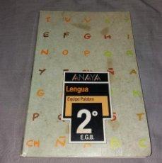 Libros de segunda mano: LIBRO DE TEXTO. LENGUA, EQUIPO PALABRA. ANAYA, 1989, 2º EGB. Lote 153577494