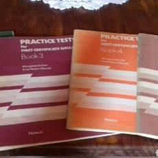 Libros de segunda mano: PRACTICE TESTS FOR FIRST CERTIFICATE ENGLISH. 4 CUADERNOS. Lote 154286797