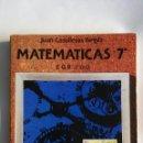 Libros de segunda mano: MATEMÁTICAS 7 EGB 1977 EN PERFECTO ESTADO. Lote 155150726