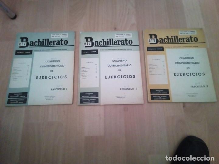 LOTE DE TRES LIBROS DE BACHILLERATO RTV CENTRO NACIONAL DE ENSEÑANZA 1963 (Libros de Segunda Mano - Libros de Texto )