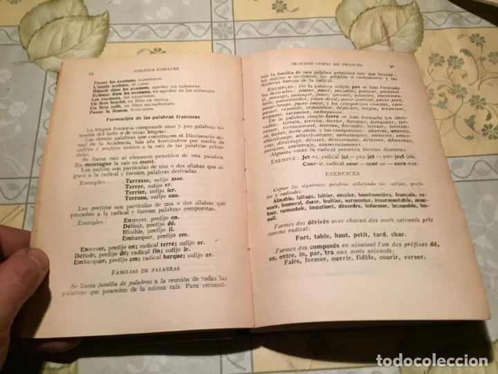 Libros de segunda mano: Antiguo libro escolar de lengua francesa por Josefina Ribelles año 1934 - Foto 3 - 155850926
