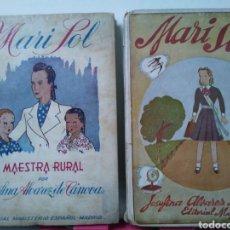 Libros de segunda mano - MARISOL MAESTRA RURAL. MARISOL 2° Y 3° PARTE. DOS LIBROS. JOSEFINA ALVAREZ DE CANOVAS. - 156220630