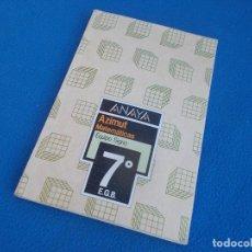 Libros de segunda mano: MATEMATICAS 7º EGB . AZIMUT . EQUIPO SIGNO . ANAYA 1987. Lote 156670462