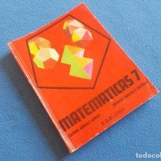Libros de segunda mano: MATEMATICAS 7º EGB . ANAYA 1980. Lote 156672066