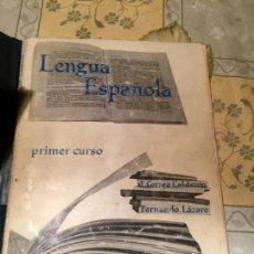 Libros de segunda mano: ANTIGUO LIBRO ESCOLAR LENGUA ESPAÑOLA. SEGUNDO CURSO. F. CORREA, FERNANDO LÁZARO. ANAYA 1963. Lote 157962014