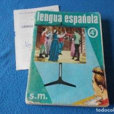 Libros de segunda mano: LENGUA ESPAÑOLA 4º BACHILLERATO . SM 1970. Lote 157982158