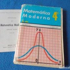 Libros de segunda mano: MATEMATICAS 4º BACHILLERATO . SM .1972. Lote 157982418
