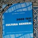 Libros de segunda mano: 3000 TEST DE CULTURA GENERAL. Lote 158268150